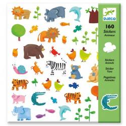 160 stickers Animaux Djeco