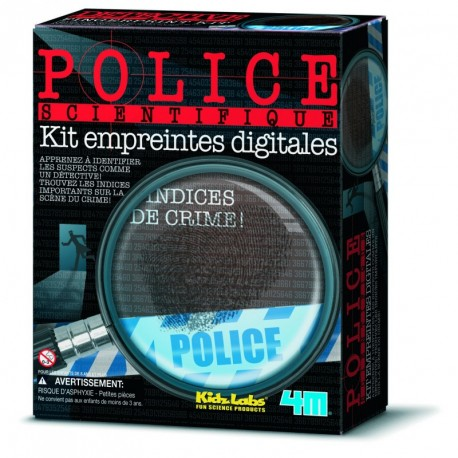 4M Kit police scientifique empreintes digitales