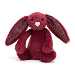 Peluche Lapin Bashful Sparkly Cassis Bunny Medium