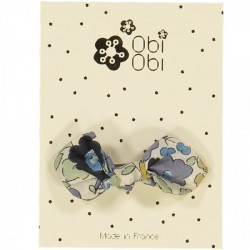 Barrette noeud liberty verveine