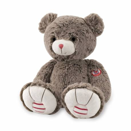 Peluche ours brun cacao K963525 Collection rouge kaloo