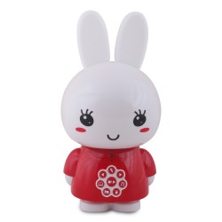 veilleuse musicale lapin Alilo honey bunny rouge