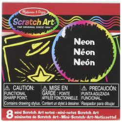 Mini Scratch art notes : Neon