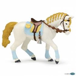 Figurine Cheval Fashion bleu