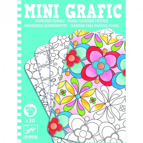 Mini Graphic: Coloriages floraux