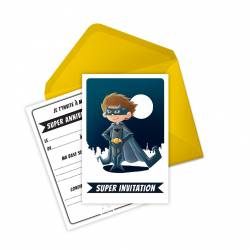 Cartes invitation anniversaire miniz - bat