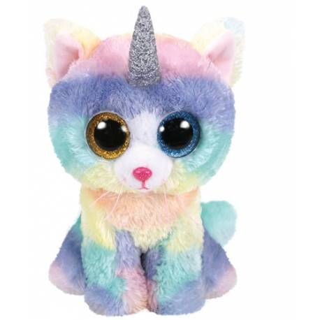 peluche ty heather le chat licorne beanie boos peluche aux gros yeux. Black Bedroom Furniture Sets. Home Design Ideas