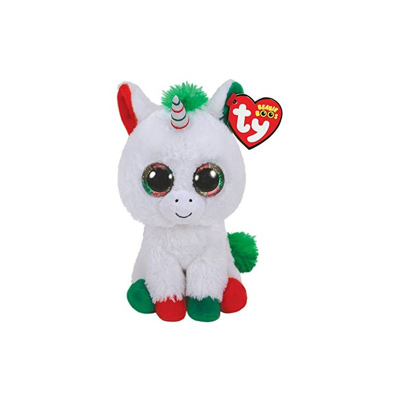peluche ty candy cane la licorne beanie boos peluche aux gros yeux. Black Bedroom Furniture Sets. Home Design Ideas