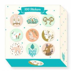 100 stickers lucille Lovely paper Djeco DD03700