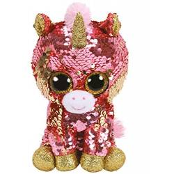 Peluche Ty Flippables medium - sunset la licorne