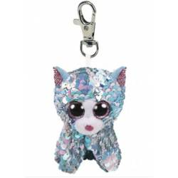 Porte clé Peluche Sequin TY Flippables Whimsy le Chat