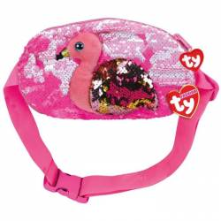 Pochette banane sequins gilda le flamant rose Ty fashion