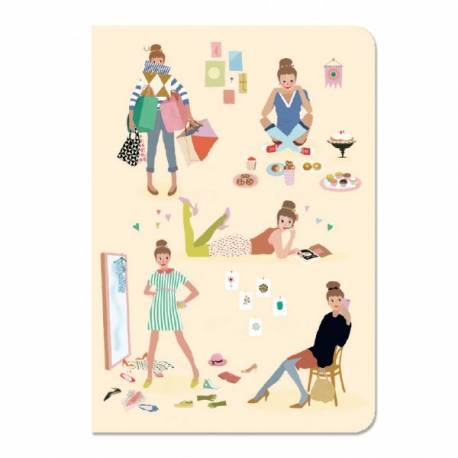 Carnets stickers tinou Lovely paper Djeco