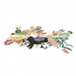 50 stickers aiko Lovely Paper Djeco