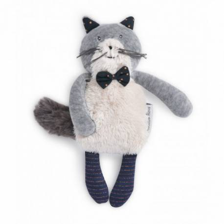 Miniature chat gris fernand les moustaches Moulin Roty