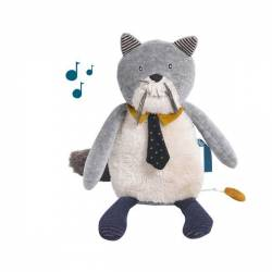 Chat musical les moustaches Moulin Roty