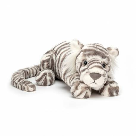Peluche Sacha snow tiger Medium Jellycat