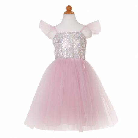 Robe de princesse sequins chatoyants 7/8 ans